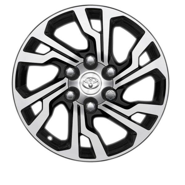 "Toyota Hilux 2015-Present 17"" 6 Double Spoke Black Machined Alloy Wheel PC4570K001 / 496"