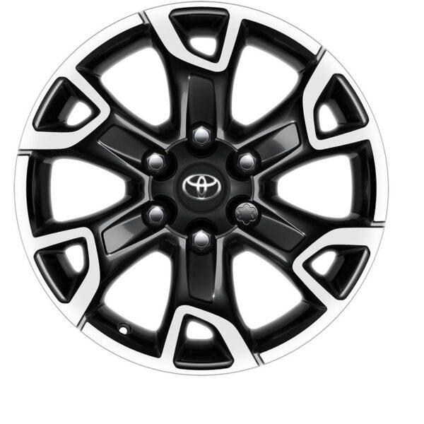 "Toyota Hilux 2015-Present 18"" 6 Spoke Black Machined Alloy Wheel PW4570K001MB / 989"