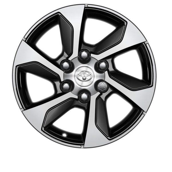 "Toyota Hilux 2015-Present 17"" 6 Bold Spokes Black Machined Alloy Wheel PW4570K000MB / 988"