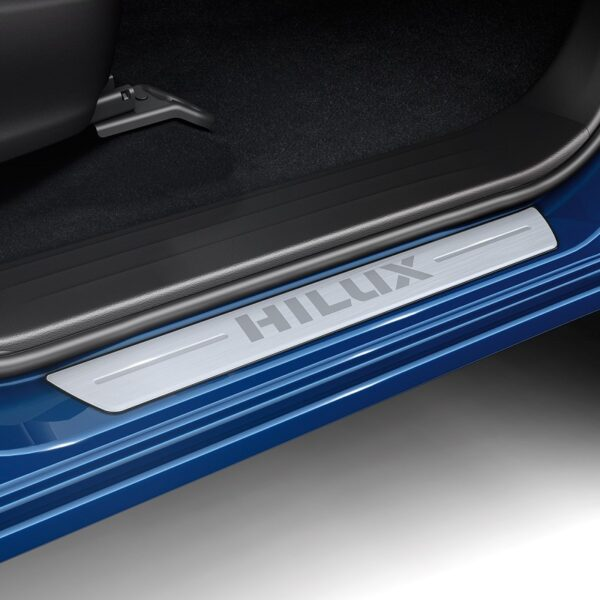 "Toyota Hilux (2015-Present) Aluminium Scuff Plates With ""Hilux"" Logo PC3820K004"