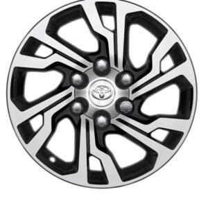 "Toyota Hilux (2015-Present) 17"" 6 Double Spoke Black Machined Alloy Wheel PC4570K001"