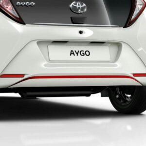 Toyota Aygo (2014-Present) Front And Rear Bumper Liner - Super Red PW18A0H008DC