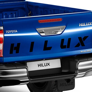 """Toyota Hilux (2015-Present) """"Hilux"""" Name Decal - Black PW18A0K002"""