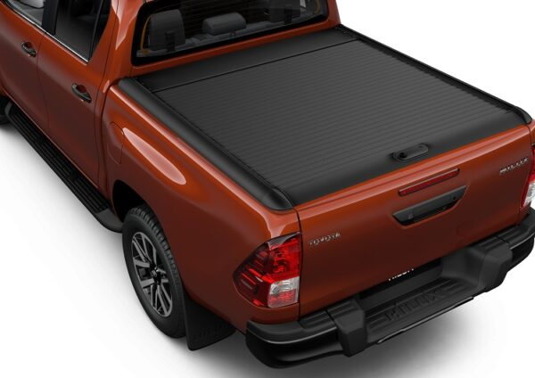 Toyota Hilux (2015-Present) Black Alu Roll Cover (Double Cab) PW3B00K022