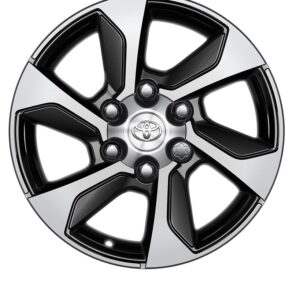 "Toyota Hilux (2015-Present) 17"" 6 Bold Spokes Black Machined Alloy Wheel PW4570K000MB"