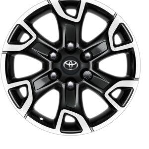 "Toyota Hilux (2015-Present) 18"" 6 Spoke Black Machined Alloy Wheel PW4570K001MB"